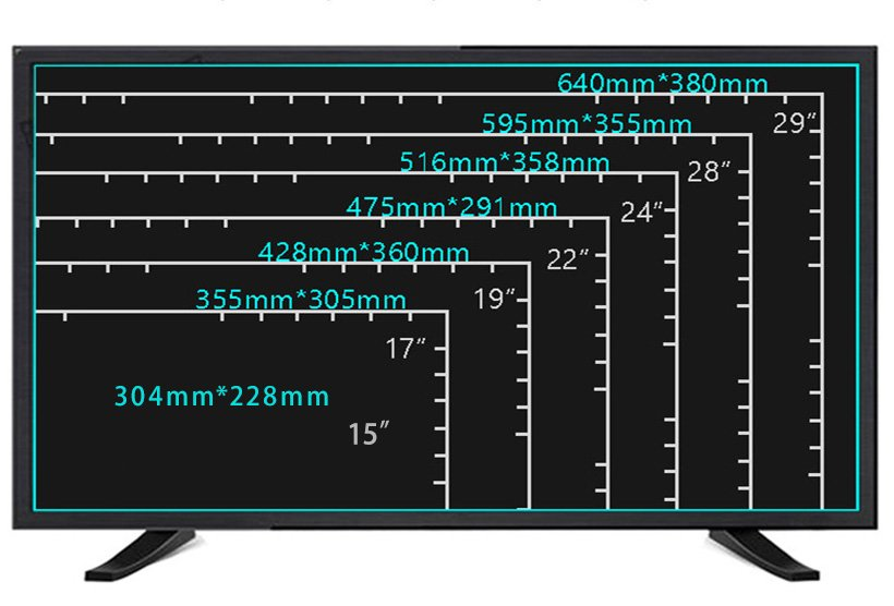 double glasses 22 inch tv 1080p with dvb-t2 for lcd tv screen-7