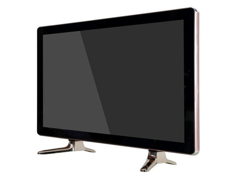 latest double glass design 22 inch led tv with high quality tube speaker