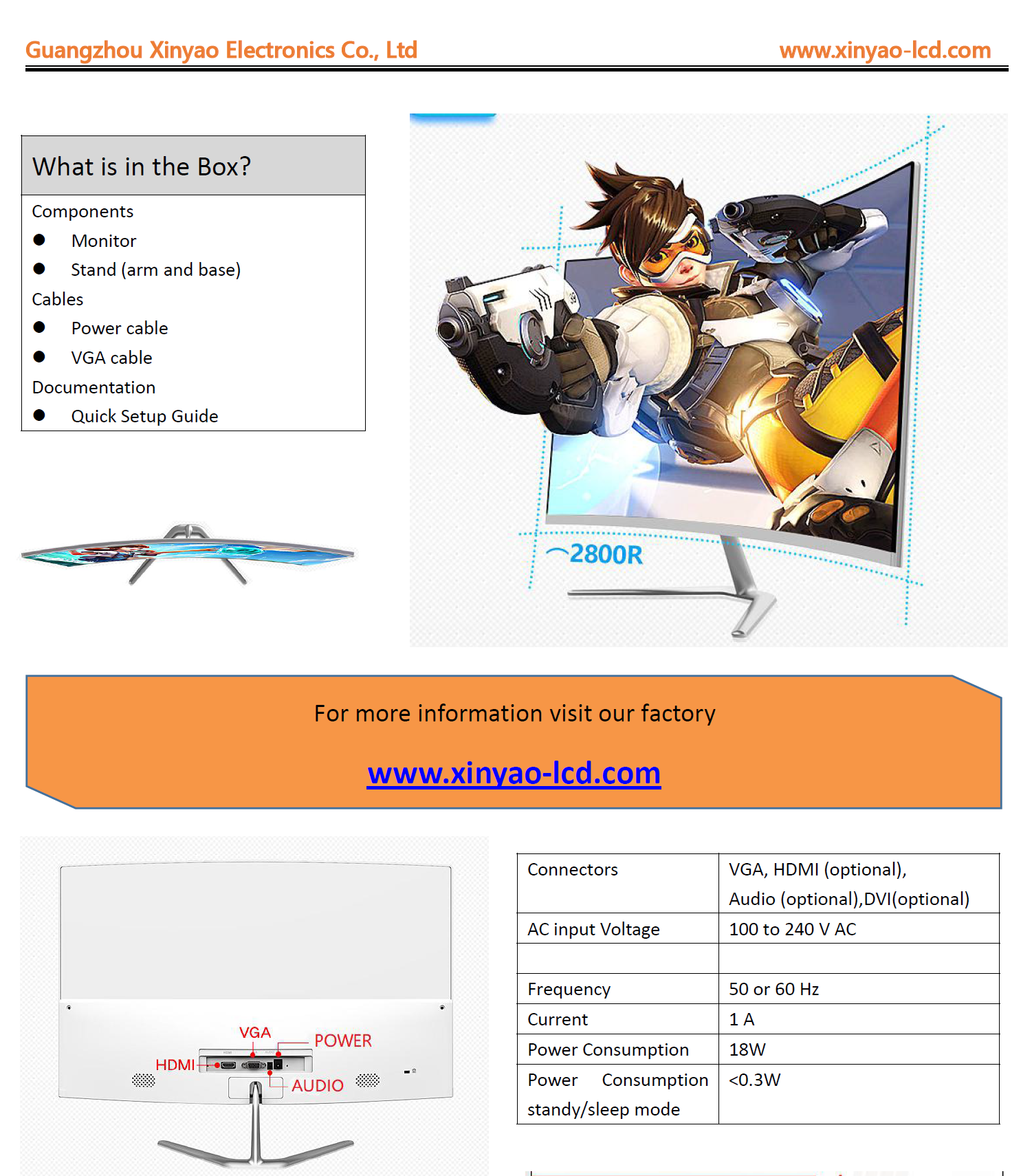 Wholesale inch 23 inch led monitor Xinyao LCD Brand