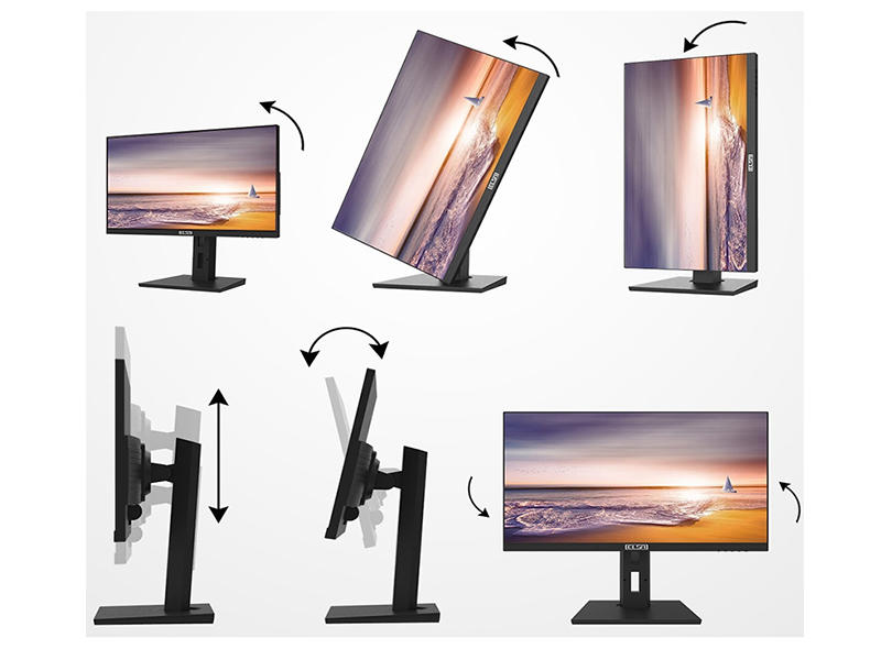 23.6、23.8inch IPS monitor with multifunctional base and camera